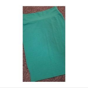 Lularoe Cassie Pencil Skirt in Bright Green